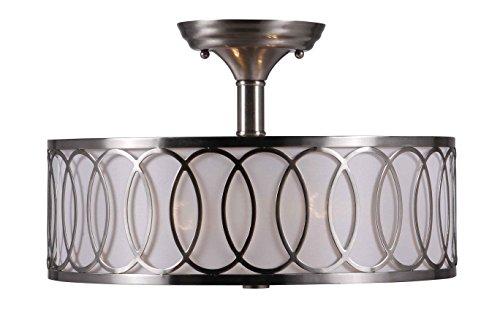 World Imports Lighting  9076-37 Venn 2-Light Semi Flush Mount 410FD1nlRRL
