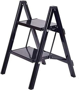 STOOL Step Ladder Home - Taburetes, 2 peldaños, taburete de aleación de aluminio, escalera de tijera plegable, estante para flores de interior para adultos, bastidores para plantas, herramienta de ja: Amazon.es: Bricolaje