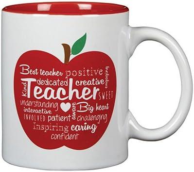 Amazon Com Word Art Ceramic Teacher Appreciation Coffee Mug With Chalkboard Message 11 Oz Coffee Cups Mugs