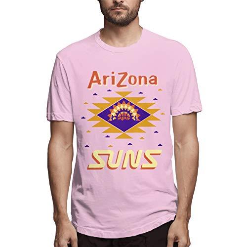 AeosJoy Men's Short Sleeve T-Shirt Steve Nash Tee, Men Short Sleeves Causal Pink XXL