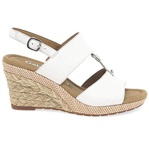 827 Zapatos Cuña Verano Plana Weiss De Grata Del Gabor 22 Sandalias wqxw1CrH