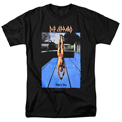 Def Leppard High 'n' Dry 80s Rock Album T Shirt & Stickers (XX-Large) Black