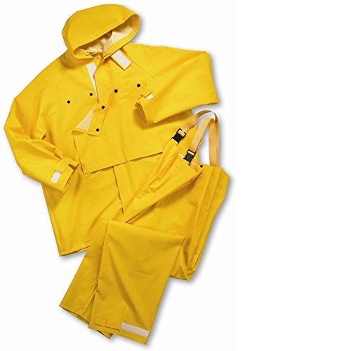Hydro Blast Suit - West Chester 4040 XX2XL 35 mL PVC Hydro Blast Rain Suit, 4XL, Yellow