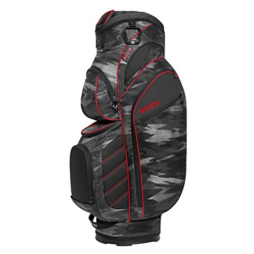 OGIO Stinger Cart Bag, Urban Camo/Red