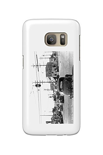 Seattle, Washington - View of White Center Shopping District (Galaxy S7 Cell Phone Case, Slim Barely - Seattle Shopping Centre