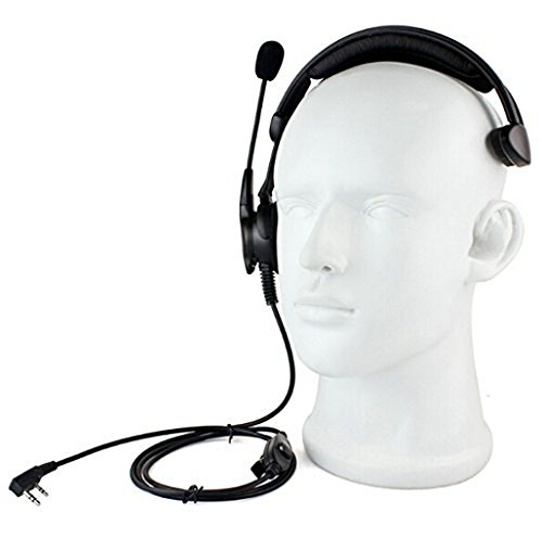 Generic PTT MIC High power speaker antinoise anti wrestling Headphone Headset for Radio KENWOOD BAOFENG by FANVERIM
