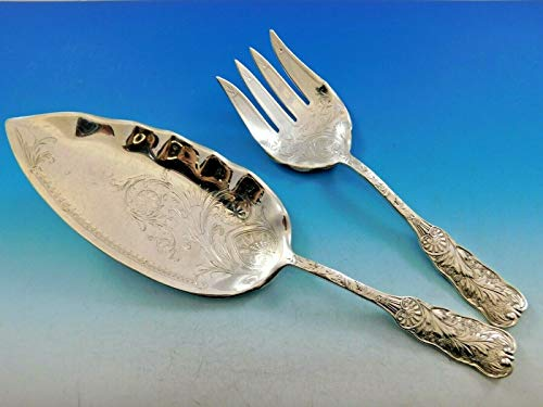 Saint Cloud by Gorham Sterling Silver Fish Serving Set 2-piece Brite Cut 11 3/4