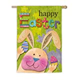 Easter Bunny Presents Garden Flag Size: 44″ H x 28″ W Review
