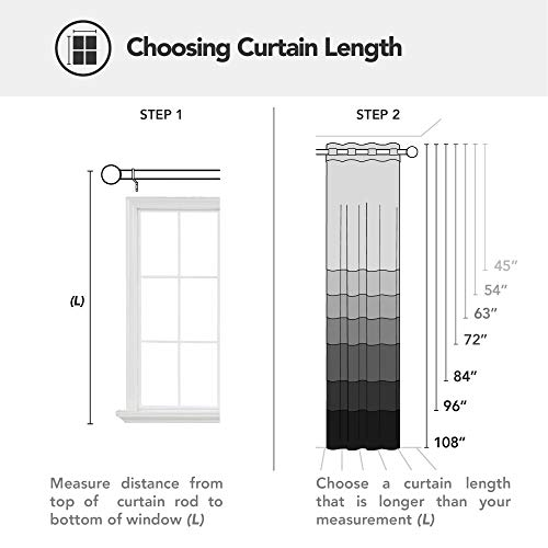 Deconovo Silver Wave Foil Print Blackout Curtains Grommet Light Blocking Curtain Room Darkening Noise Reducing Window… 6