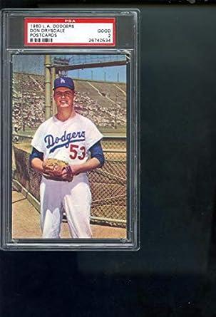 Amazoncom 1960 Los Angeles Dodgers Postcards Don Drysdale