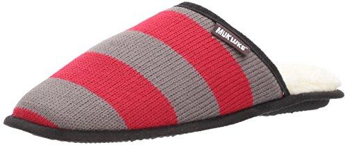 Muk Luks Mens Game Day Scuffs-rosso Scuro Pantofola Rosso Scuro