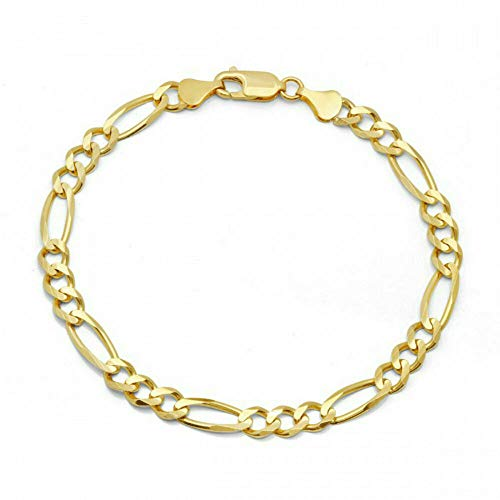 - AZAMON Unisex Modern Design 10k Yellow Gold Color Miami Cuban Link Durable and Material Bracelet, for Men/Women, Franco, Rope Curb