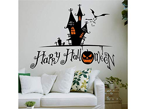 Yuchoi Funny Halloween Horror Wall Mirror Window Stickers Removable