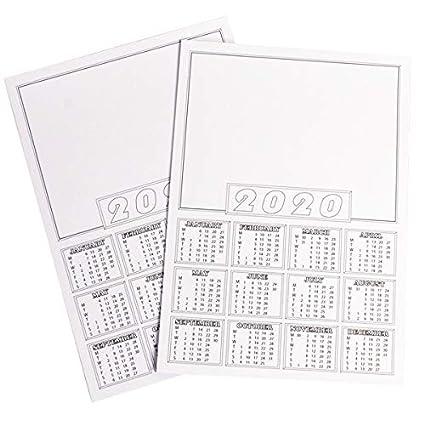 Calendrier 2020 Fete Des Meres.Calendrier 2020 Format A4 Vierges Mini Calendrier Blanc