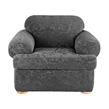 Amazoncom Sure Fit Stretch Metro 2 Piece Chair Slipcover