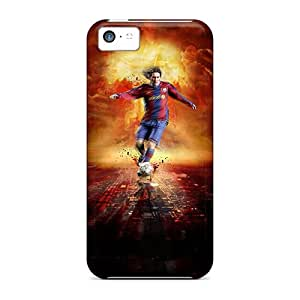 Scratch Resistant Cell-phone Hard Cover For Iphone 5c (seo3980iYCt) Custom HD Messi Pattern