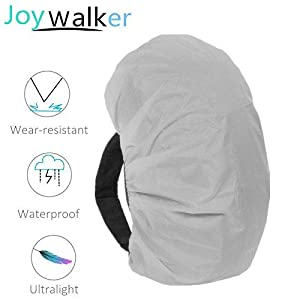 Joy Walker Backpack Rain Cover Waterproof Breathable Suitable for (15-30L, 30-40L, 40-55L, 55-70L, 70-90L) Backpack Hiking /Camping /Traveling (gray, XL (for 55-70L backpack))
