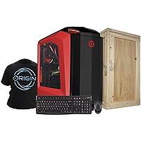 Origin PC MILLENNIUM-REDi7-7700K 1080Ti Z270Gam5 Tower Desktop, Red