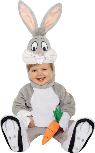 Looney Tunes Bugs Bunny Romper Costume, Gray, 12-18 Months (Bugs Bunny Costume For Kids)