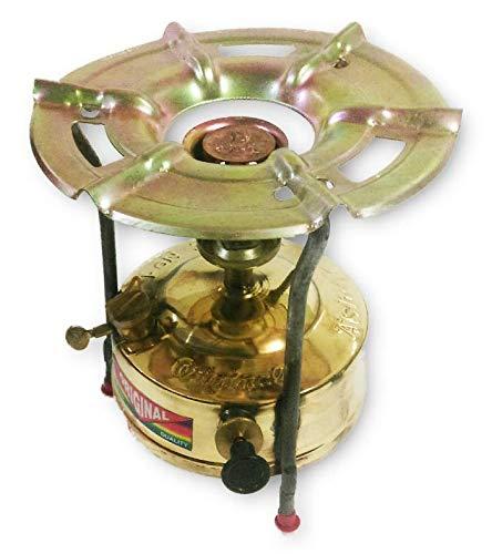 Brass Kerosene Pressure Stove Camping Outdoor Primus Fishing 1.5 Liter Tank