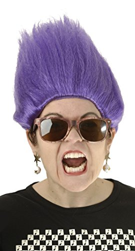 Purple Kids Evil Minion Costume Wig