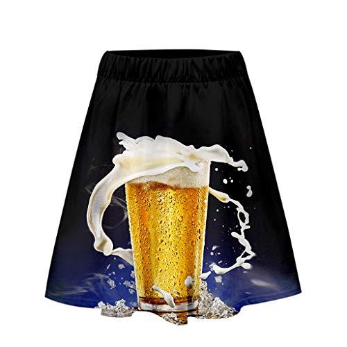 Carnival Halloween Dress,Ladies'3D Beer Festival Printing Easy Casual Short Skirt,Women's Novelty Skirts]()