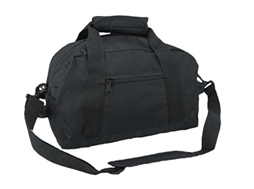 "DALIX 14"" Small Duffle Bag Two Toned Gym Travel Bag (Black)"