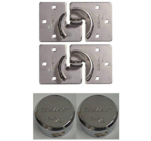 (Trimax THSP2C/THPXL Pair of Hockey Puck Internal Shackle Door Hasps & Locks - Rekeyable)