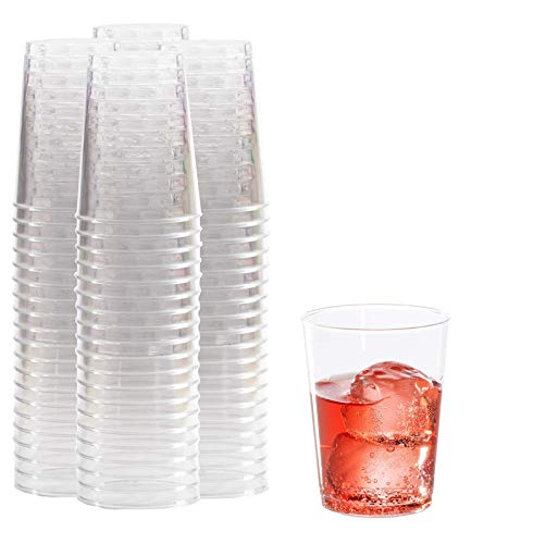 10 oz Clear Plastic Cups | 100 Pack