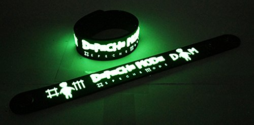 Depeche Mode New! Glow In The Dark Wristband Bracelet 81 Enjoy The Silence