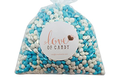 Love of Candy Bulk Candy - White & Blue Chocolate Lentils - 1lb Bag