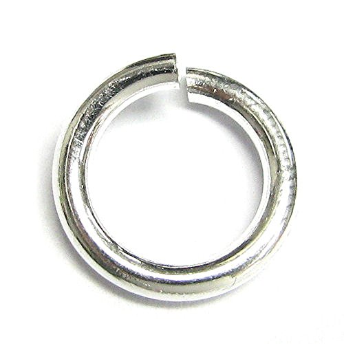 Dreambell 2 pcs 925 Sterling Silver 12mm Heavy Duty Round Open Jump Rings 12 GA Gauge/2mm Wire