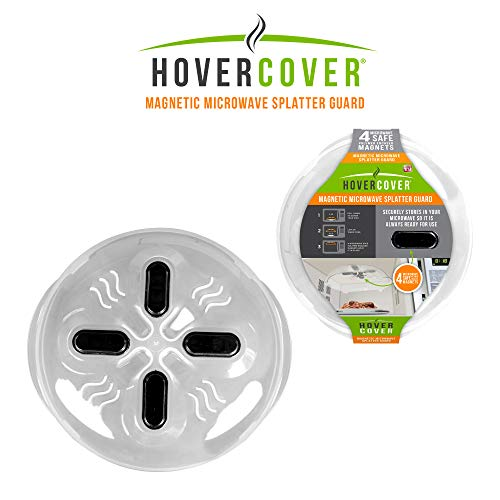 (Hover Cover Magnetic Microwave Splatter Lid with Steam Vents Cover | Dishwasher Safe BPA Free | 11.5 Inch)