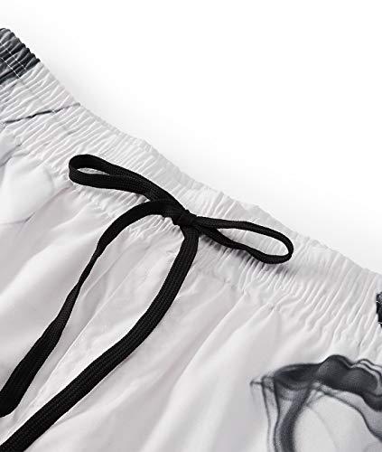 xxxl S Pantaloncini bianco Swimsuit Short Fumo uomo Quick Aideaone Swim Dry gwRPnOq