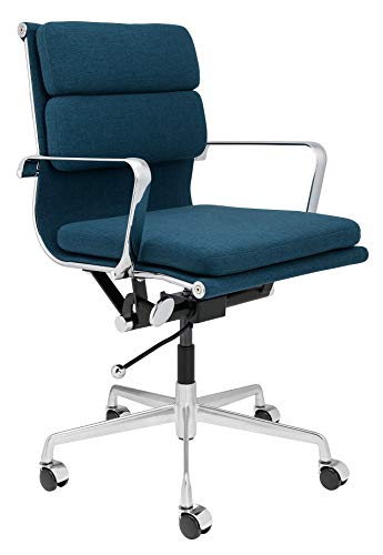 SOHO Eames Style Soft Pad Management Chair (Dark Blue Fabric)