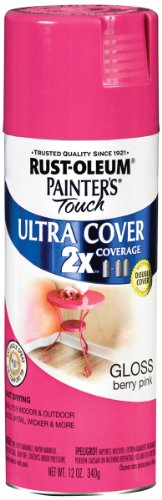 Rust-Oleum 249123 Painter's Touch Multi Purpose Spray Paint, 12-Ounce, Berry Pink (Hot Pink Spray Paint For Plastic)