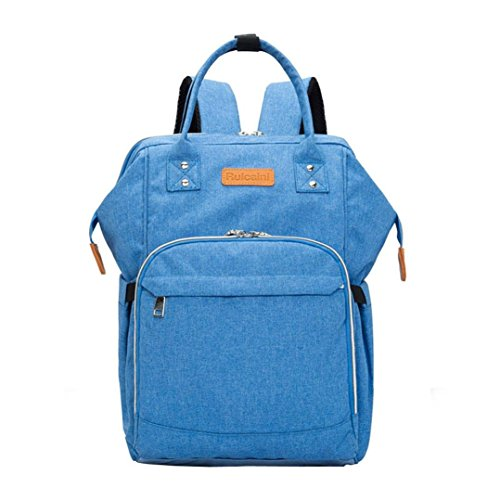 Outsta Mummy Diaper Backpack, Fashion Multifunction Baby Thermal Nappy Bottle Bag Waterproof Travel for Baby Care,Large Capacity Nursing Children Portable Bag,Durable and Stylish (Blue) -