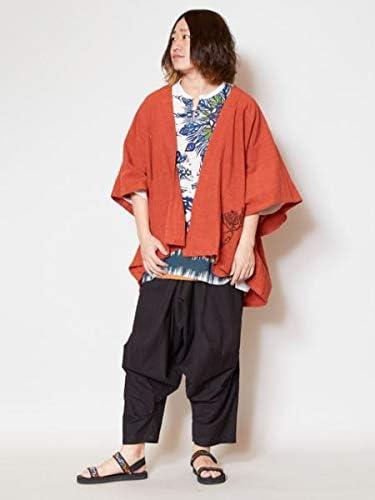 【チャイハネ】ロータス刺繍MEN'Sキモノカーディガン IDS-9224