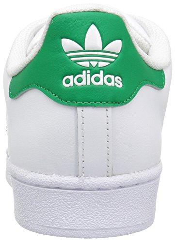 Adidas Originals Heren Superstar Foundation Fashion Sneakers Wit / Fairway / Metallic / Goud