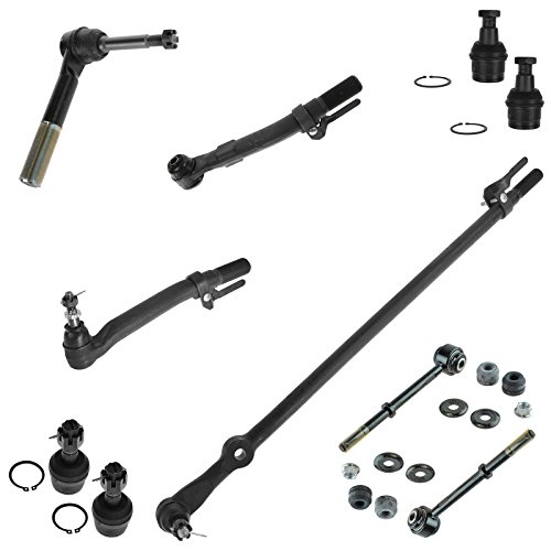 10 Piece Kit Tie Rod End Drag Link Ball Joint Sway Bar Link for Super Duty 4WD
