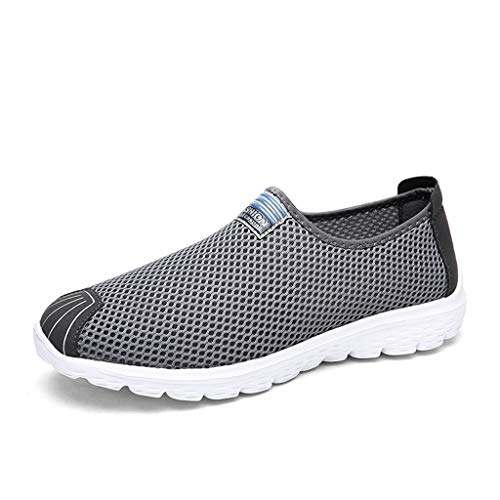 (Tantisy ♣↭♣ Fashion Sneakers Women Women's Casual Mesh Breathable Lightweight Shoes Simple Sport Running Shoes Dark Gray)