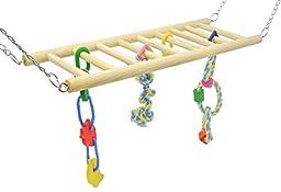 Niteangel Bird Suspension Bridge Toys, Hanging Swing Toy for Parrot