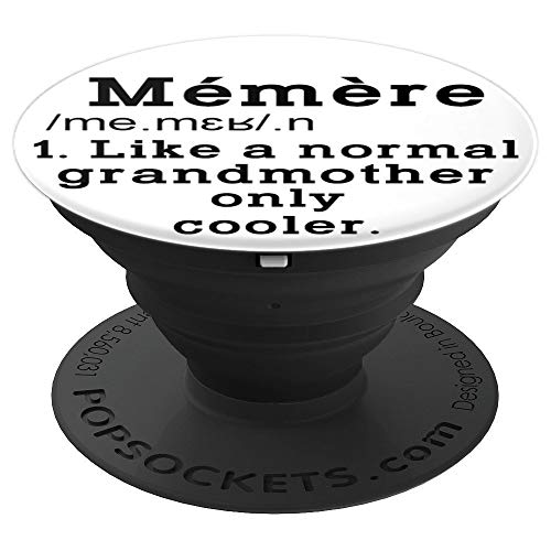 French Memere Funny Definition Grandma Memere Gifts Cute - PopSockets Grip and Stand for Phones and Tablets