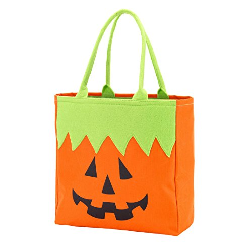 Custom Personalized Character Halloween Bag Trick or Treat Tote Storage (Pumpkin - -