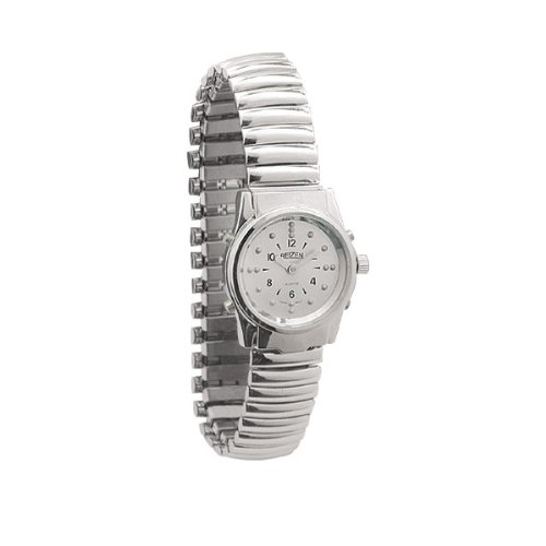Ladies Chrome Braille and Talking Watch - Exp Band by Reizen