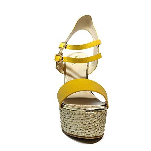 BraccialiniFrauen-Sandalen mit hohem Keil ORANGE B117 neue Kollektion Frühjahr Sommer 2017