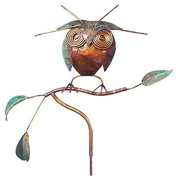 Copper Owl Garden Sculpture / Stake