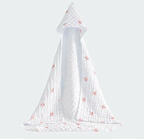 Laribbons 85cm * 85cm de muselina de algodón orgánico del bebé con capucha, toallas de