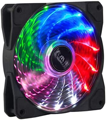 Jinnuotong01 CPU Cooler Color : Black Computer Power Fan//CPU Cooling Fan//Mute//Shock Absorber Pad//with Screws Chassis Fan The Appearance is Beautiful.