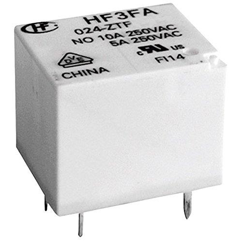Hongfa HF3FA//024-ZTF PCB Mount Relay 24V DC SPDT